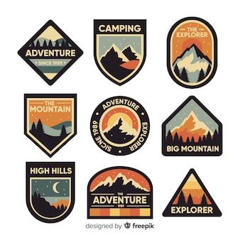 Collezione vintage logo di avventura