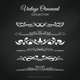 Collezione vintage ornamento con stile lavagna