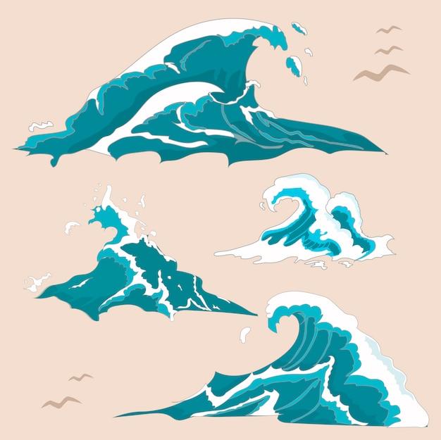 Collezione wave ocean