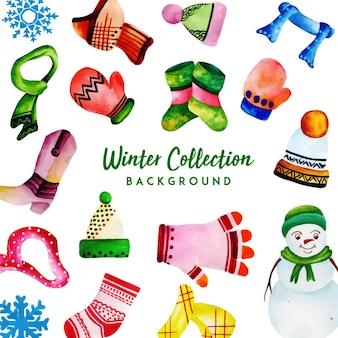Collezione winter watercolor