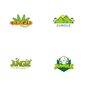 Collezioni del logo della giungla