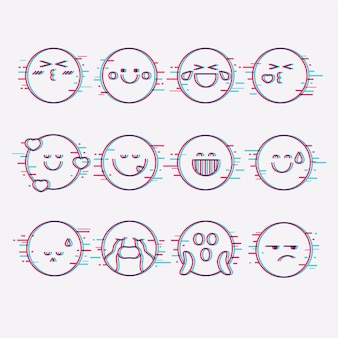 Collezioni di emoji glitch