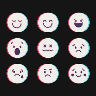 Collezioni di icone emoji glitch