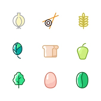 Collezioni di ingredienti vegetali