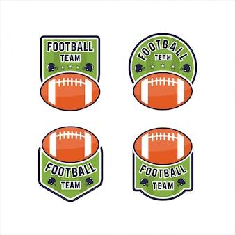 Collezioni logo football team design