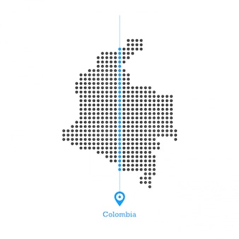 Colombia doted mappa design vettoriale
