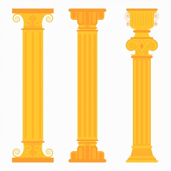 Colonne classiche d'oro per matrimoni