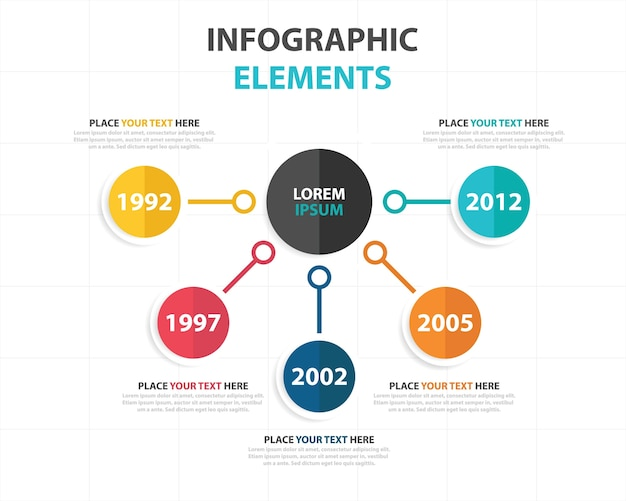 Colorato abstract business modello di infographic