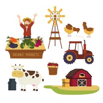 Colorato concetto di agricoltura biologica