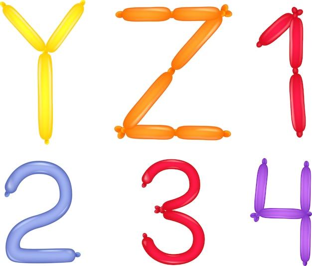 Colorato di alfabeto e numeri