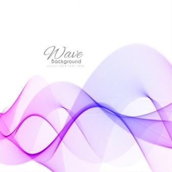 Colorato elegante sfondo onda