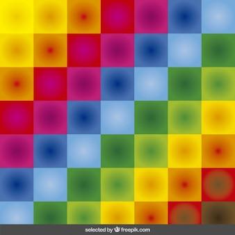 Colorato sfondo a scacchi