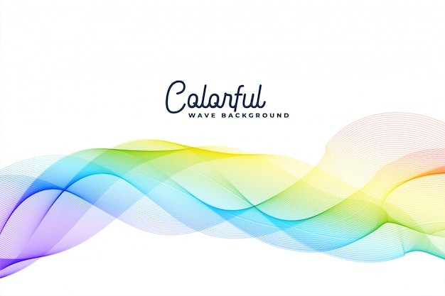 Colorato sfondo astratto ondulato