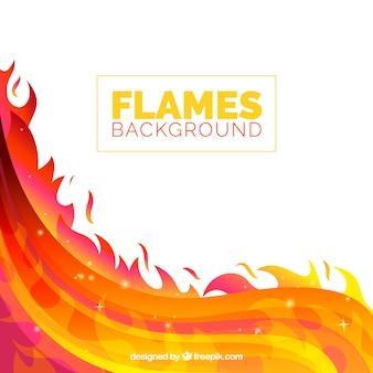Colorato sfondo di fiamma