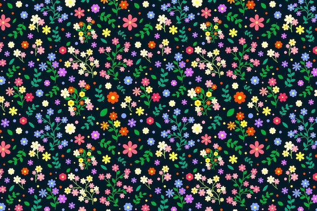 Colorato sfondo floreale ditsy