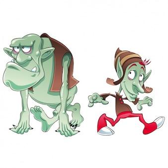 Colorato troll disegno