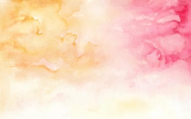 Colore caldo dell'acquerello che dipinge fondo astratto su carta