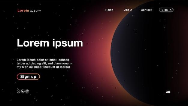 Colore chiaro della galassia astratto del fondo per l'homepage