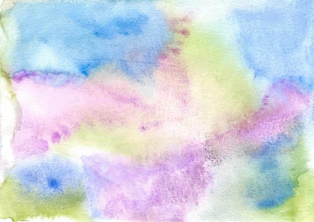 Colore della miscela verde viola blu astratto sfondo acquerello