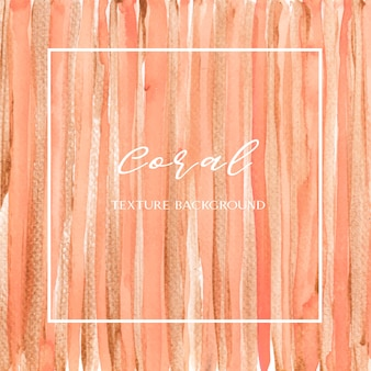 Colore di corallo acquerello di conchiglia alla moda e oro gouache texture sfondo stampa carta da parati