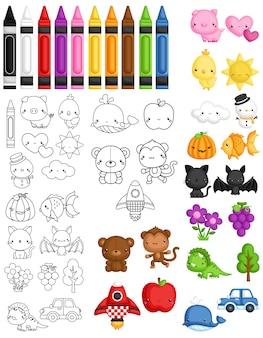 Colore flash card vector