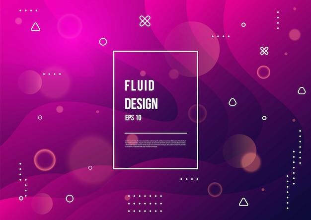 Colore fluido astratto del fondo liquido di gradiente di colore al neon con dinamica geometrica moderna