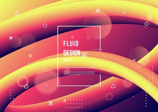 Colore fluido astratto del fondo liquido di gradiente di colore al neon