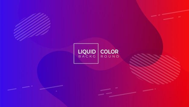 Colore fluido astratto geometrico