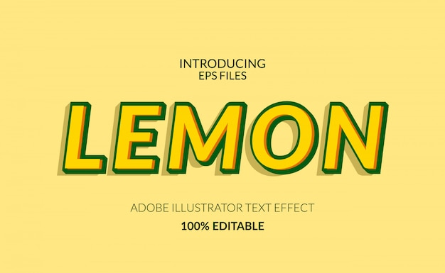 Colore giallo limone fresco. testo modificabile e effetto carattere. adatto per succhi o eventi estivi