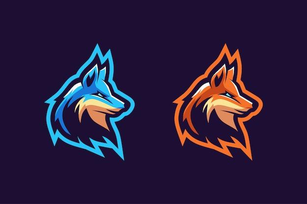 Colore opzione logo mascotte fox