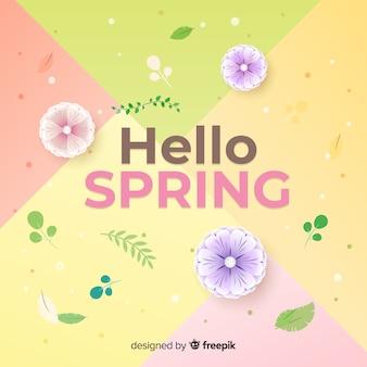 Colore pastello ciao primavera sfondo