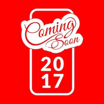 Colore rosso in arrivo del nuovo anno 2017 di sfondo