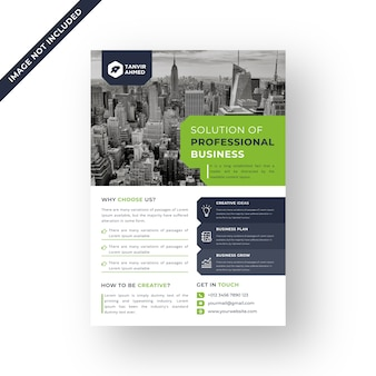 Colore verde corporate flyer design modello vettoriale