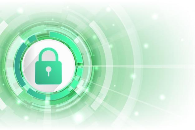 Colore verde e spazio aperto del fondo di sicurezza cibernetica