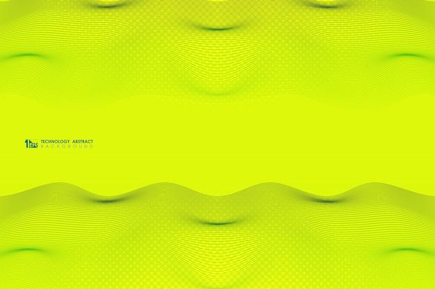 Colore vivido astratto del fondo di progettazione del modello della linea ondulata della banda.