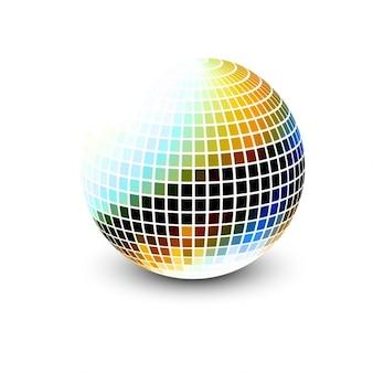 Colorful 3d sfera mosaico