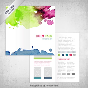 Colorful acquerello flyer template