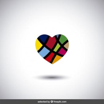 Colorful astratto cuore