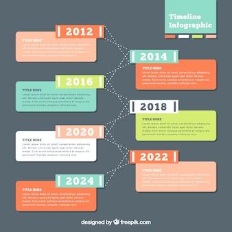 Colorful cronologia infografica