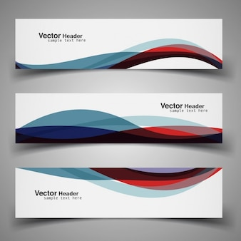 Colorful intestazione ondulato moderno