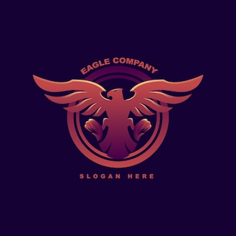 Colorfull abstract eagle logo geometrico. premium