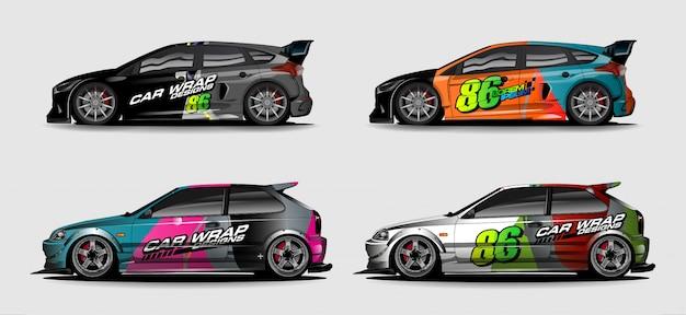Colorfull astratto per il design dell'involucro del vinile del veicolo