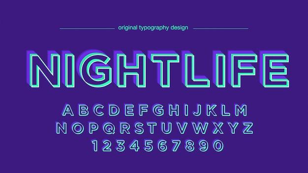 Colori al neon astratti grassetto tipografia
