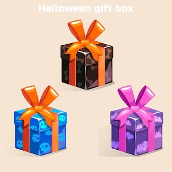 Colori confezione regalo di halloween