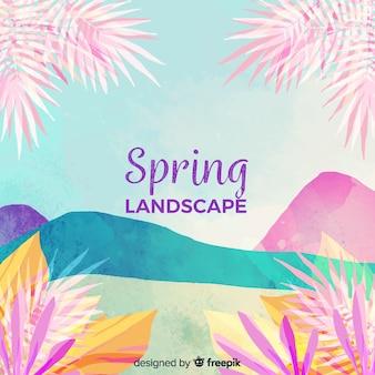 Colori tropicali primavera sfondo