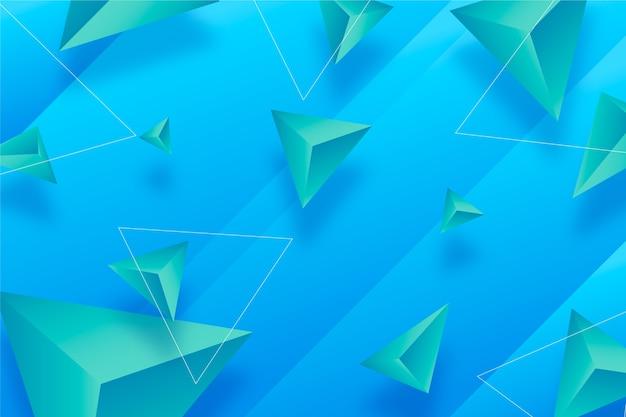 Colori vivaci sfondo di triangoli 3d