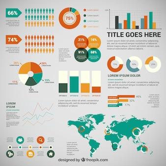Colorito affari infografica