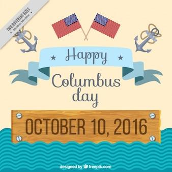 Columbus day background piatto