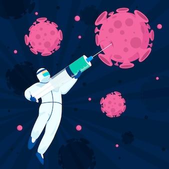 Combattere il concetto di coronavirus