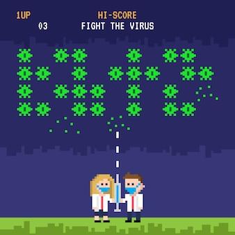 Combatti il design del gioco del concetto di virus
